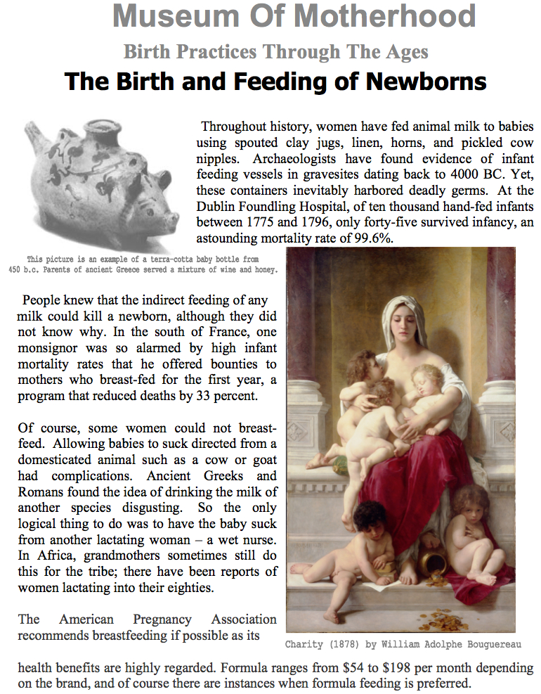 Birth Practices Through The Ages - Museum of Motherhood