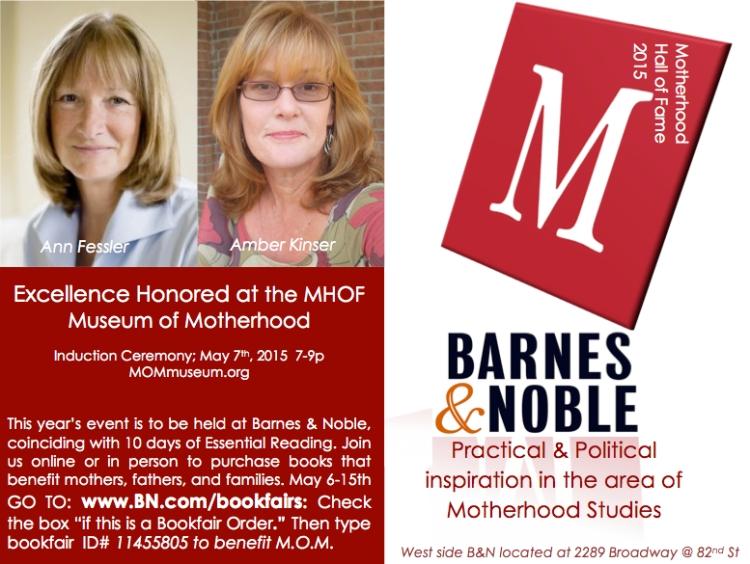 Motherhood Hall of Fame 2015; Amber Kinser, Ann Fessler
