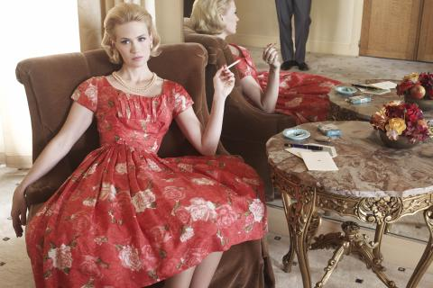 January Jones as Betty in Mad Men