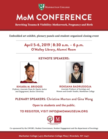 MOM Conference Keynote Flyer 2019 - Khiara M. Bridges & Roksana Badruddoja