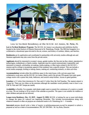 MOM Art Annex Residency 2019-2020