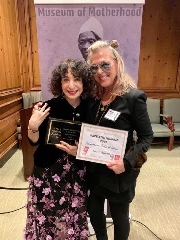 Sara Rubin & Martha Joy Rose Motherhood Hall of Fame 2019
